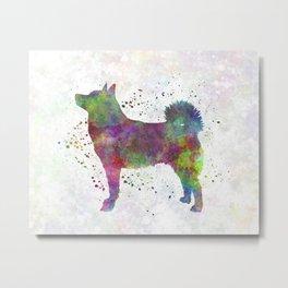 Norwegian Buhund in watercolor Metal Print