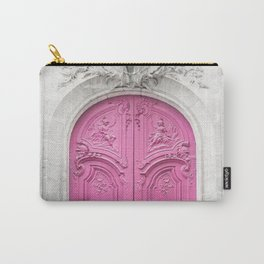 Pink Paris Door - Travel Photography, Building in Paris Carry-All Pouch