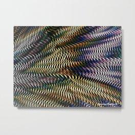 Interwoven Metal Print