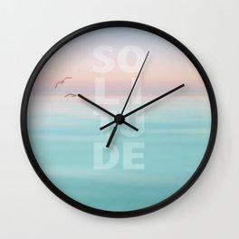 Solitude Calm Waters Wall Clock