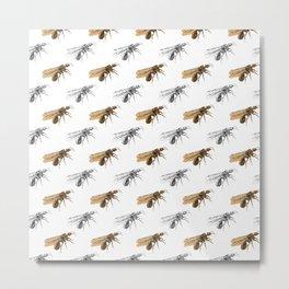Flying Ant Pattern Metal Print