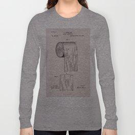 Original Toilet Paper U.S. Patent No. 465,588 by Seth Wheeler (Dec. 22, 1891) Long Sleeve T-shirt