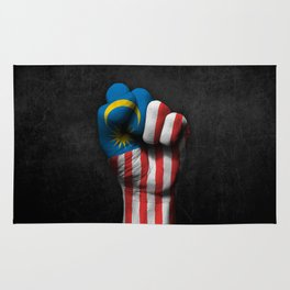 Malaysian Flag on a Raised Clenched Fist Rug