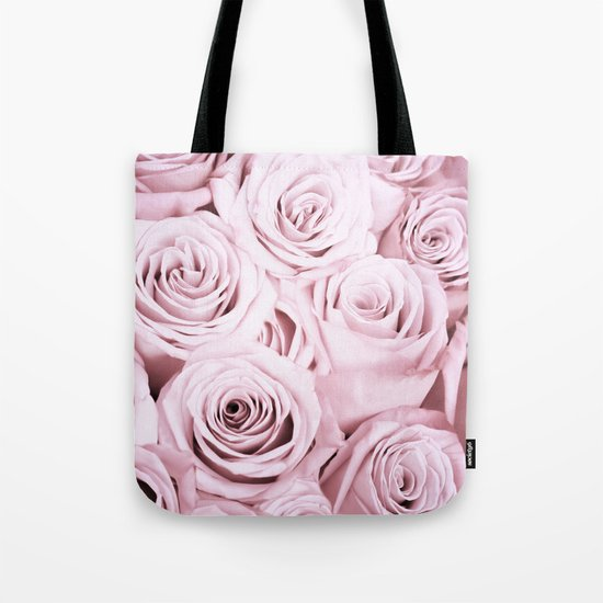 Pink Roses Flowers - Rose and flower pattern Tote Bag