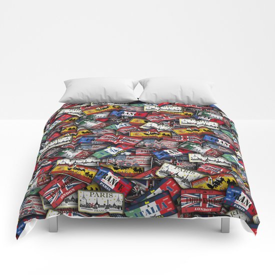 country plates Comforters