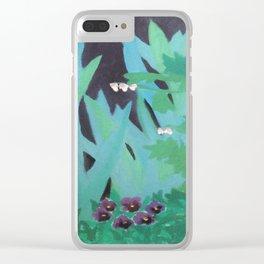 Garden Silhouette Clear iPhone Case