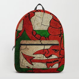 Vintage Wales flag Backpack