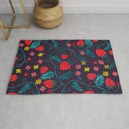 Strawberries Pattern Rug
