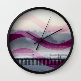 Waves and Pier Wall Clock