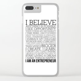 Entrepreneur Manifesto Clear iPhone Case
