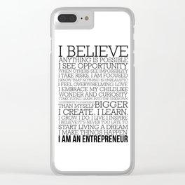 Entrepreneur Manifesto Clear iPhone Case