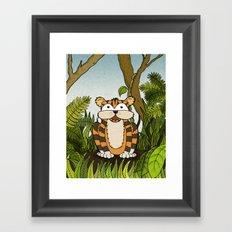 Erin's Jungle Tiger Framed Art Print