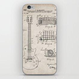 Gibson Guitar Patent - Les Paul Guitar Art - Antique iPhone Skin
