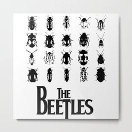 The Beetles (White variant) Metal Print