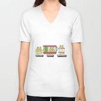 hamster V-neck T-shirts featuring hamster by tavislea