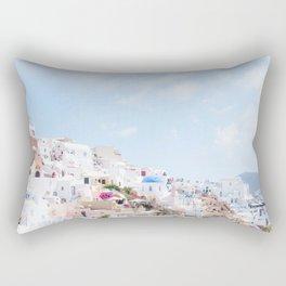 Pastel Colored View on Santorini Greece Rectangular Pillow