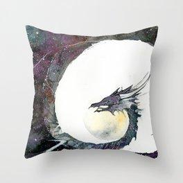 Cosmos Dragon Throw Pillow