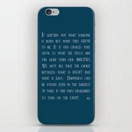 Dumbledore wise quotes iPhone Skin