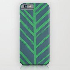 Painted Herringbone - in Emerald iPhone 6s Slim Case
