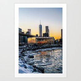 Winter in NY Art Print