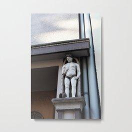 Male statue Metal Print