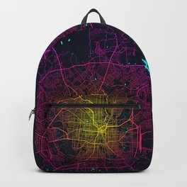 San Antonio City Map the United States - Neon Backpack