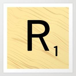 Scrabble R - Large Scrabble Tile Letter Art Print
