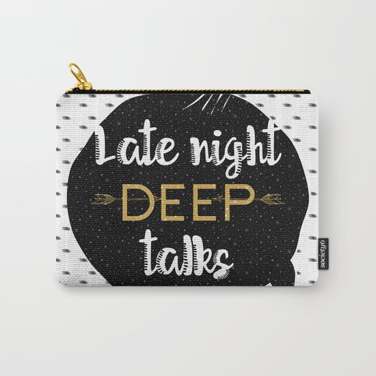 Late night deep talks Carry-All Pouch
