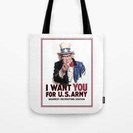 I Want You - Uncle Sam Tote Bag