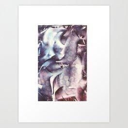 Blue Violet Monoprint Art Print