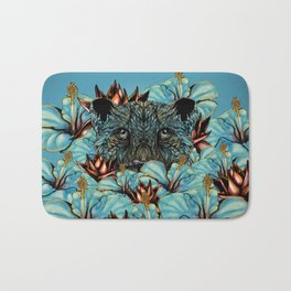 The Tiger and the Flower Bath Mat