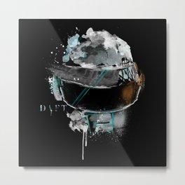 Daft Punk - SILVER Metal Print