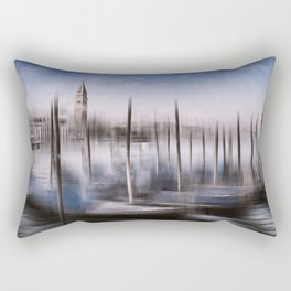 Digital-Art VENICE Grand Canal and St Mark's Campanile Rectangular Pillow