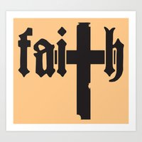faith Art Prints featuring Faith by Spooky Dooky