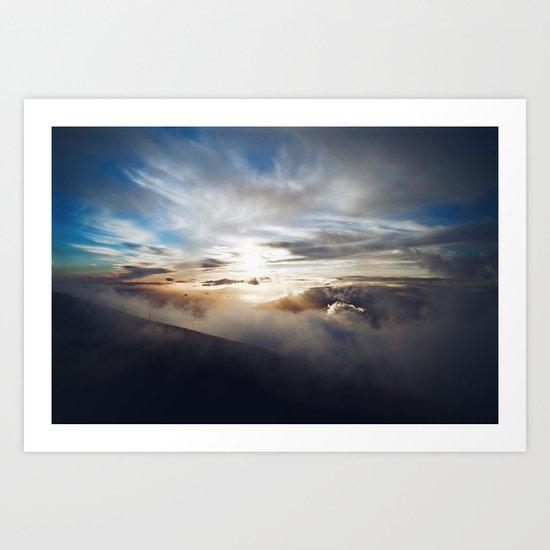Vengeful sky Art Print