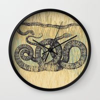 monty python Wall Clocks featuring Python ~ The Summer Series by Mary Kilbreath