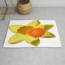 Daffodil Emblem Isolated On White Rug