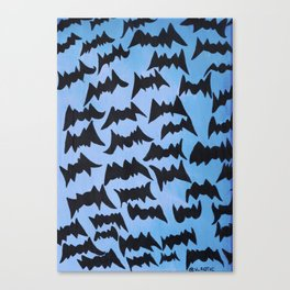 Batty Abstract Pattern Canvas Print