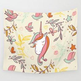 Vintage Dreams Unicorn Wall Tapestry