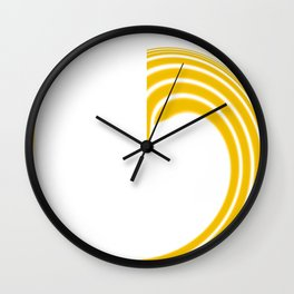Yellow Fire1 Abstract Art By Saribelle Rodriguez Wall Clock