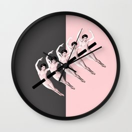 pink kebab Wall Clock