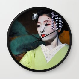 Geisha Maiko IV Wall Clock