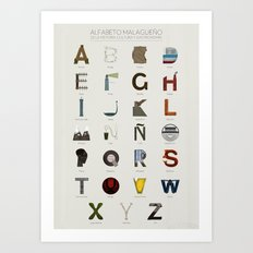 Alfabeto malagueño © Art Print