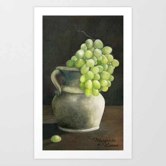 Grape Art Print