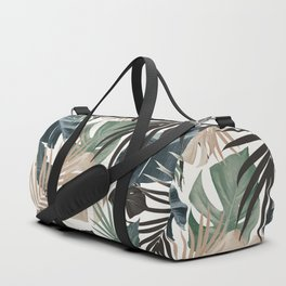 Tropical Jungle Leaves Pattern #13 (Fall Colors) #tropical #decor #art #society6 Duffle Bag