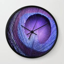 PURPLE PEACOCK Wall Clock