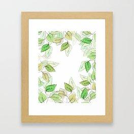 Watercolor Eucalyptus Frame Framed Art Print