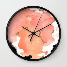 Calm Coral Daydreaming Wall Clock