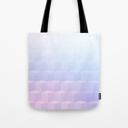 Pastel Cube Pattern Ombre 1 - pink, blue and vi Tote Bag