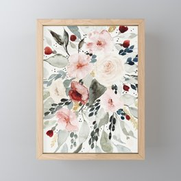 Loose Watercolor Bouquet Framed Mini Art Print